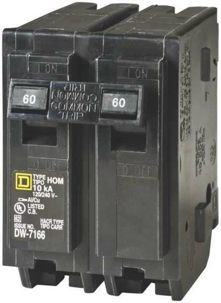 New Square D Hom260cp Homeline 60 Amp Double Pole Circuit Breakers 6721385 47569062803
