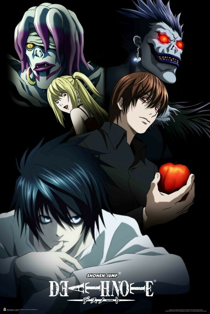 24x36 Poster Death Note Cast Of Characters Light Yagami Ebay
