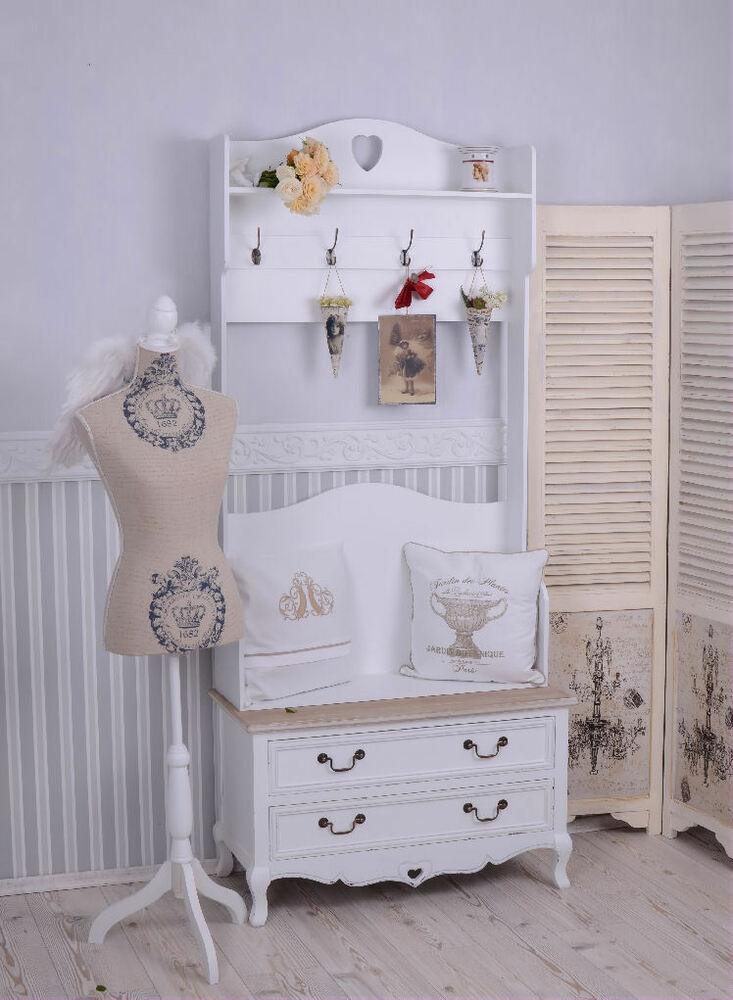 garderobe shabby chic standgarderobe garderobenst nder schuhschrank ebay. Black Bedroom Furniture Sets. Home Design Ideas