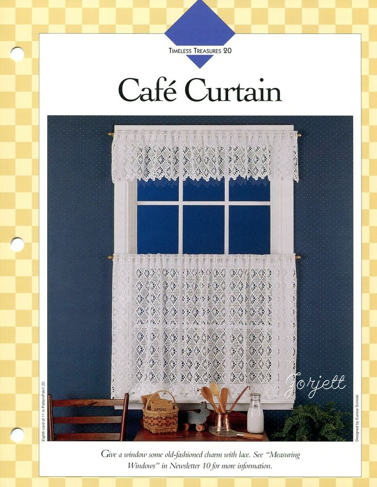 Cafe Curtain ~ Lacy Old-Fashioned Window Treatment crochet ...