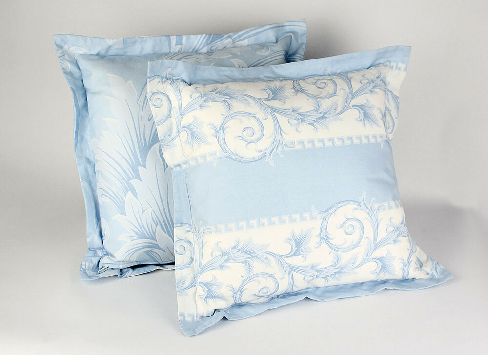 DRESS YOUR HOME IN VERSACE BLUE WHITE BAROQUE PILLOWS eBay