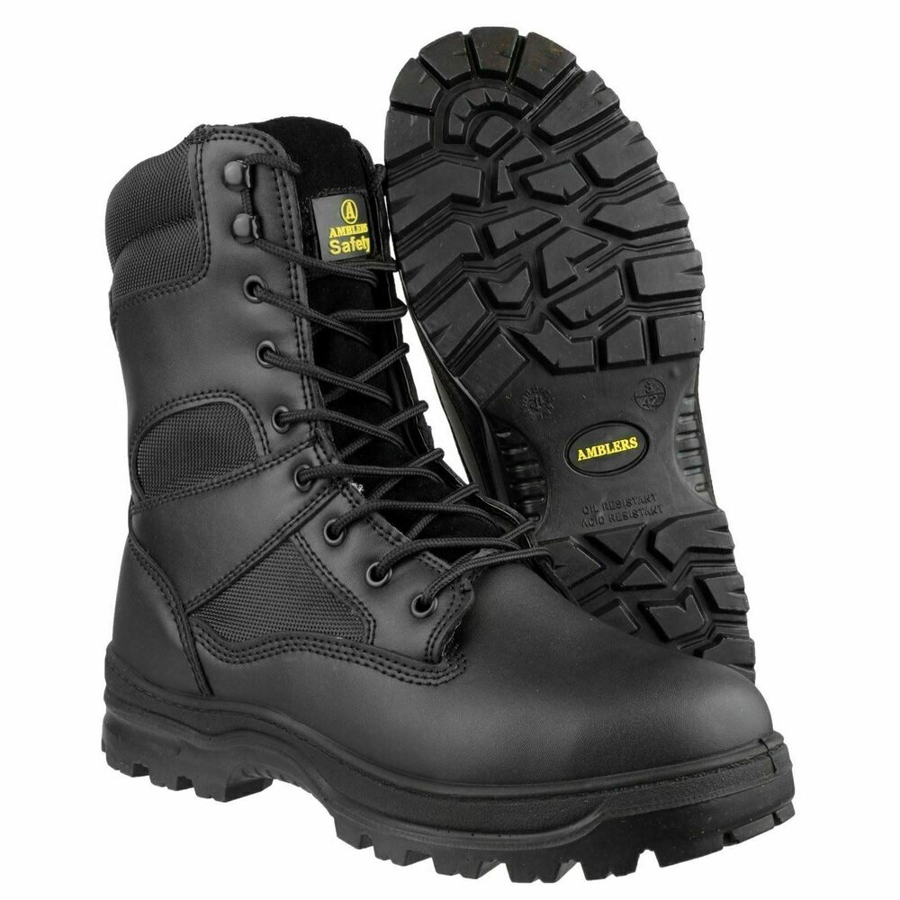 Amblers Sia Tactical Safety Toe Police Combat Leather Side
