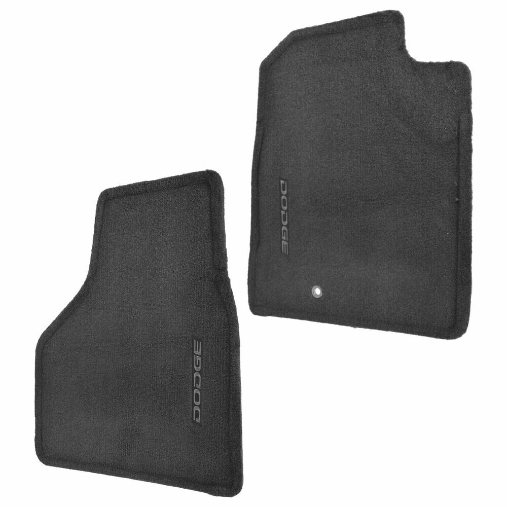 Mopar Oem Floor Mats Mat Carpet Slate Gray Front Pair Set For Dodge Ram Quad Cab Ebay