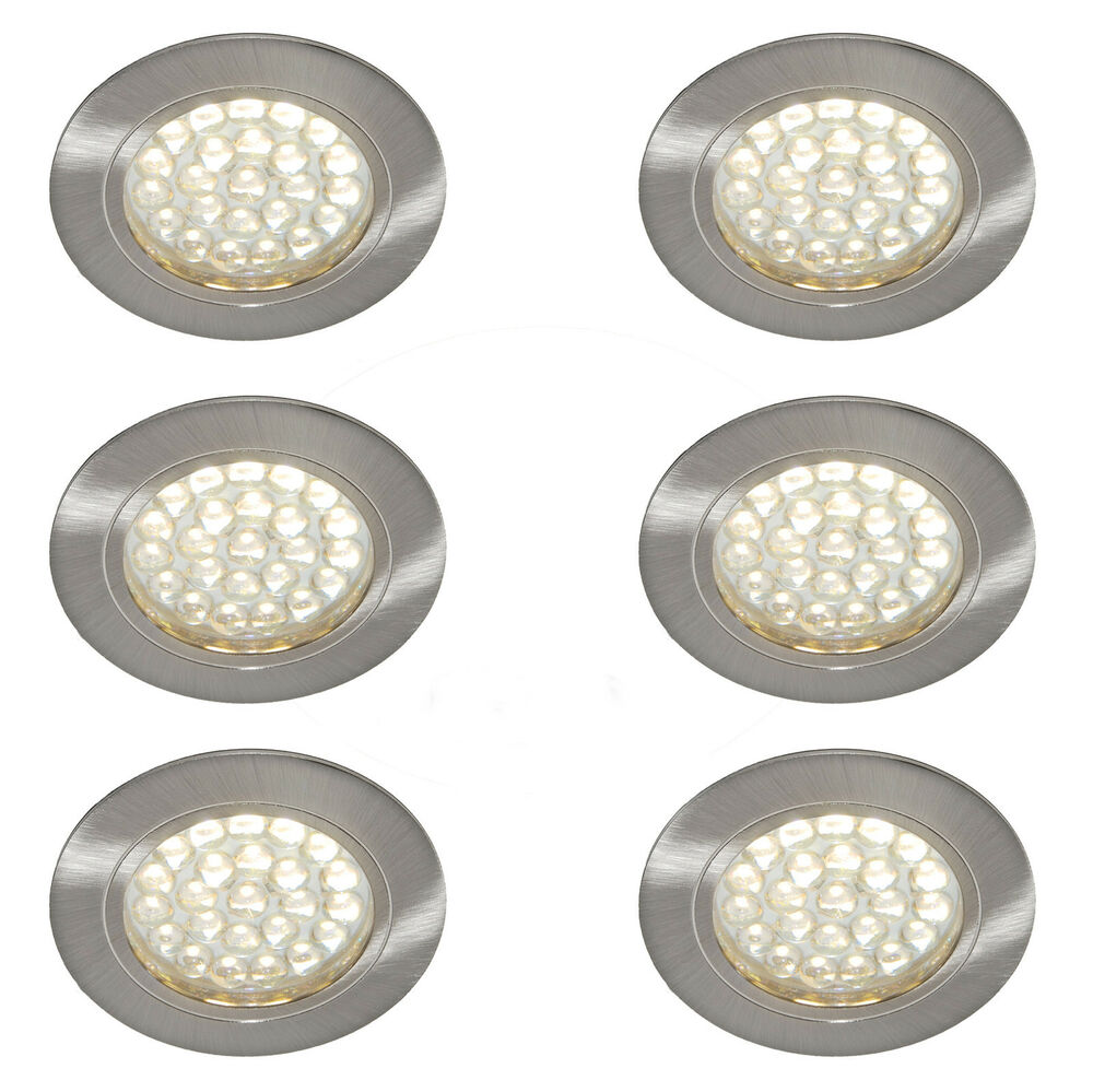6 X 12v Recessed Spot Lights Downlights Caravan Motorhome