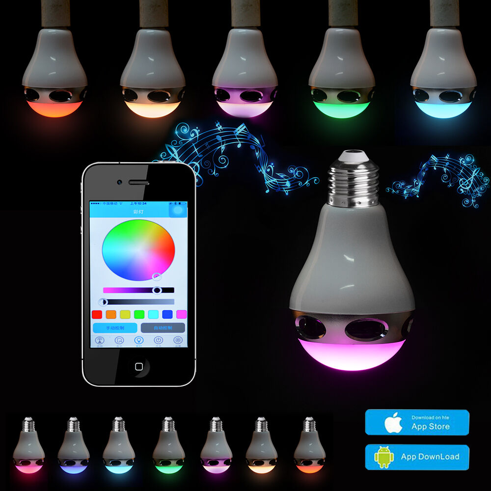 Bluetooth Control Music Audio Speaker Led Rgb Color Bulb