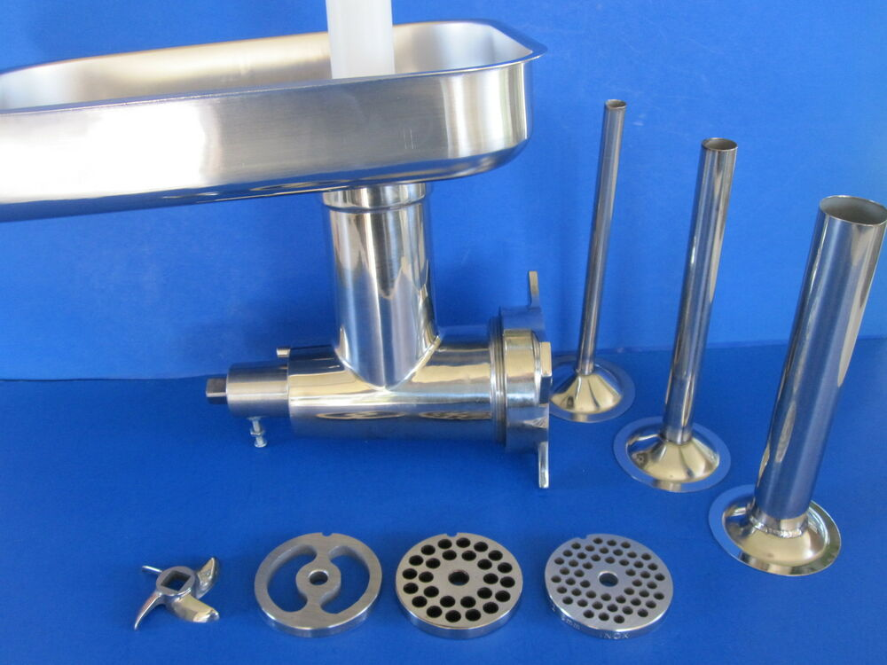 12 Stainless Meat Grinder For Hobart Mixer W Sausage