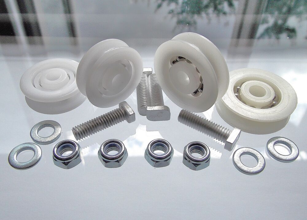 Greenhouse Parts Spares Elite 28mm Or 32mm Door Wheel Kits