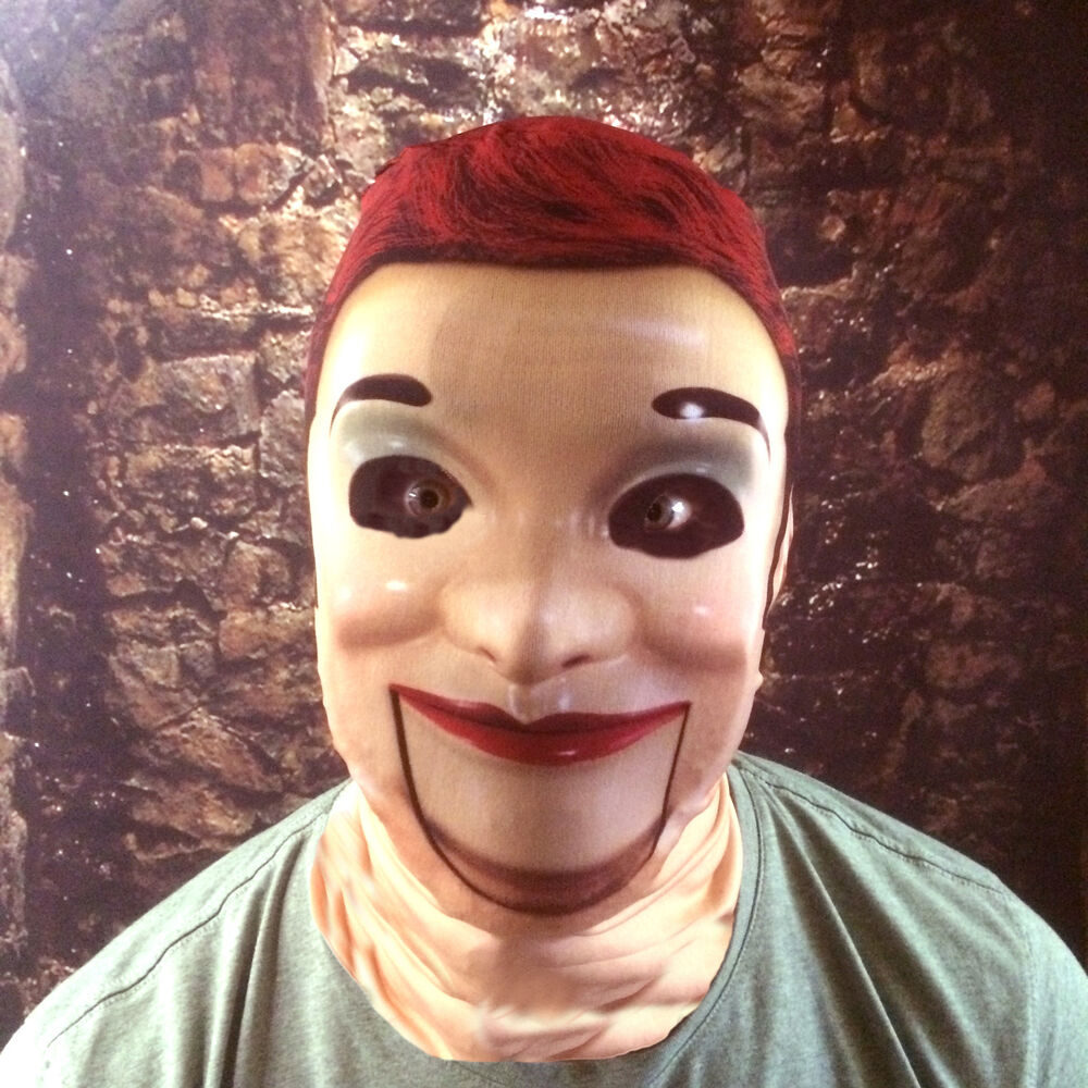 3D SCARY PLASTIC DUMMY EFFECT FACE SKIN LYCRA FABRIC FACE MASK ...