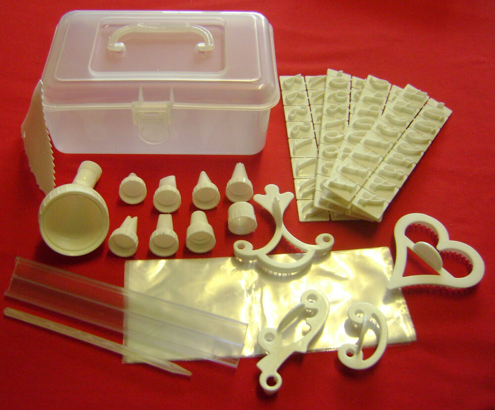 Cake Decorating Kit Images : NEW 100 PIECE CAKE DECORATING KIT IN BOX. ICING BAGS ...