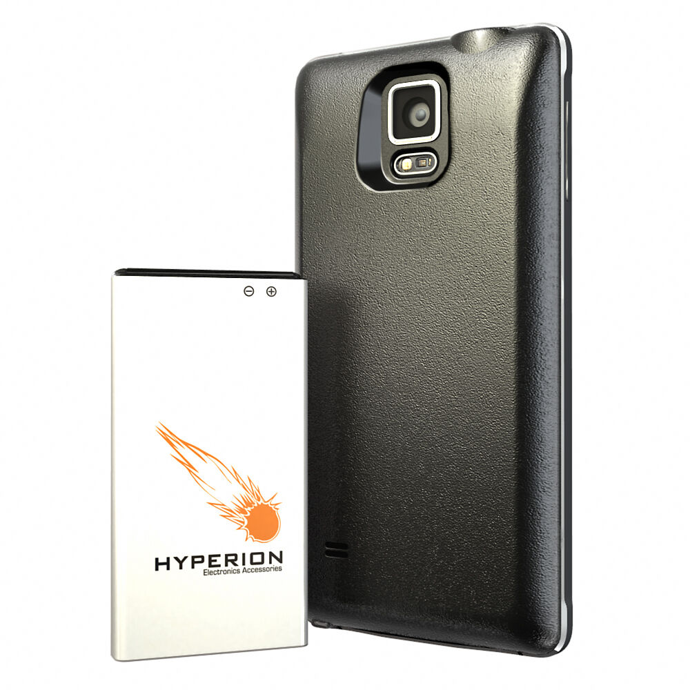 hyperion samsung galaxy note 4 8000mah extended battery back cover ebay. Black Bedroom Furniture Sets. Home Design Ideas
