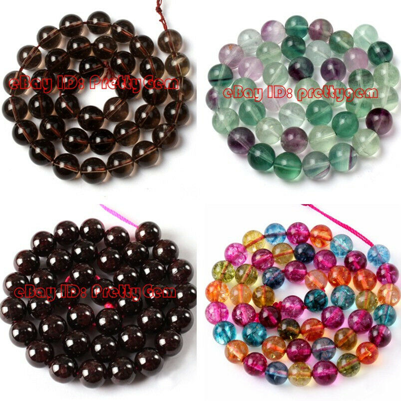 Diy jewelry making pretty natural round quartz spacer for Birthstone beads for jewelry making