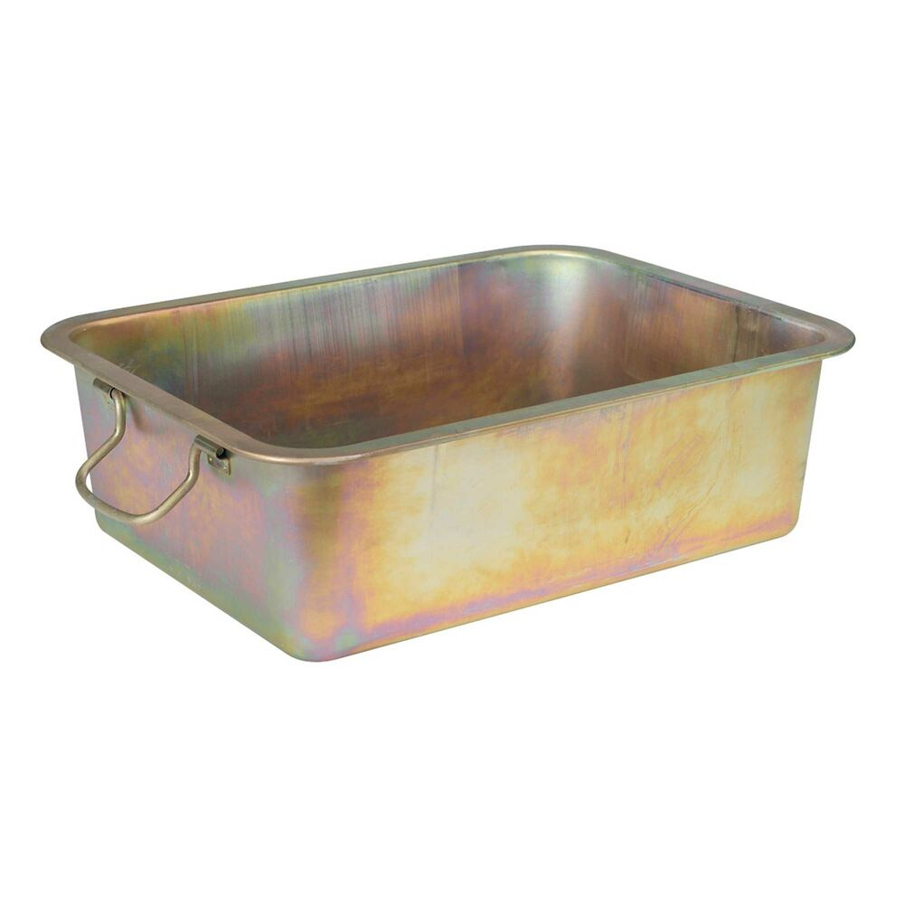 Sealey Metal Oil Drain Draining Drainage Pan Container
