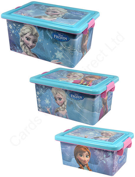 disney frozen plastic storage box container with lid