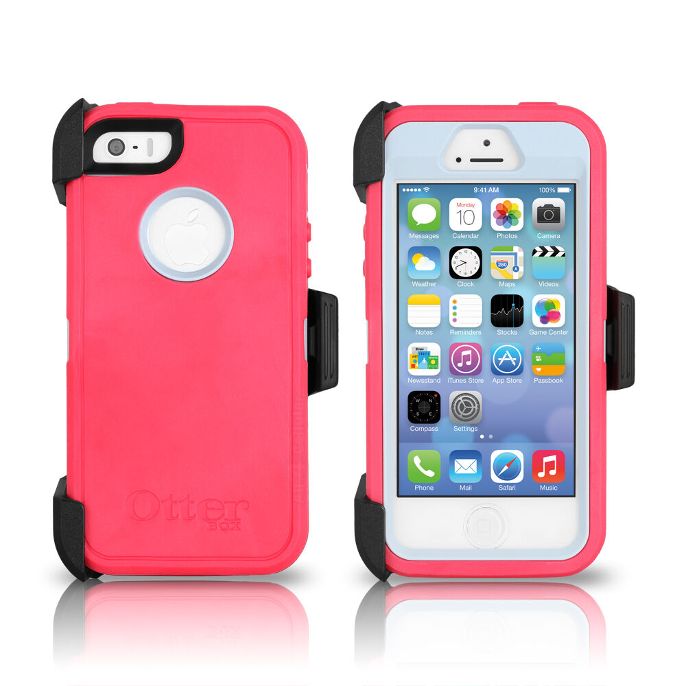 Otterbox defender iphone 5s 5 case holster pink gray for Iphone 5 in the wild bangkok