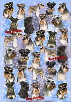 Miniature Schnauzer Christmas Wrapping Paper By Starprint