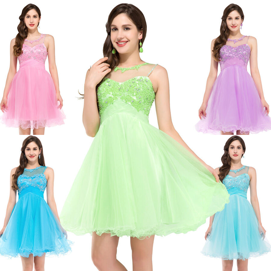 Teens formal pageant dress evening homecoming party for Short formal wedding dresses