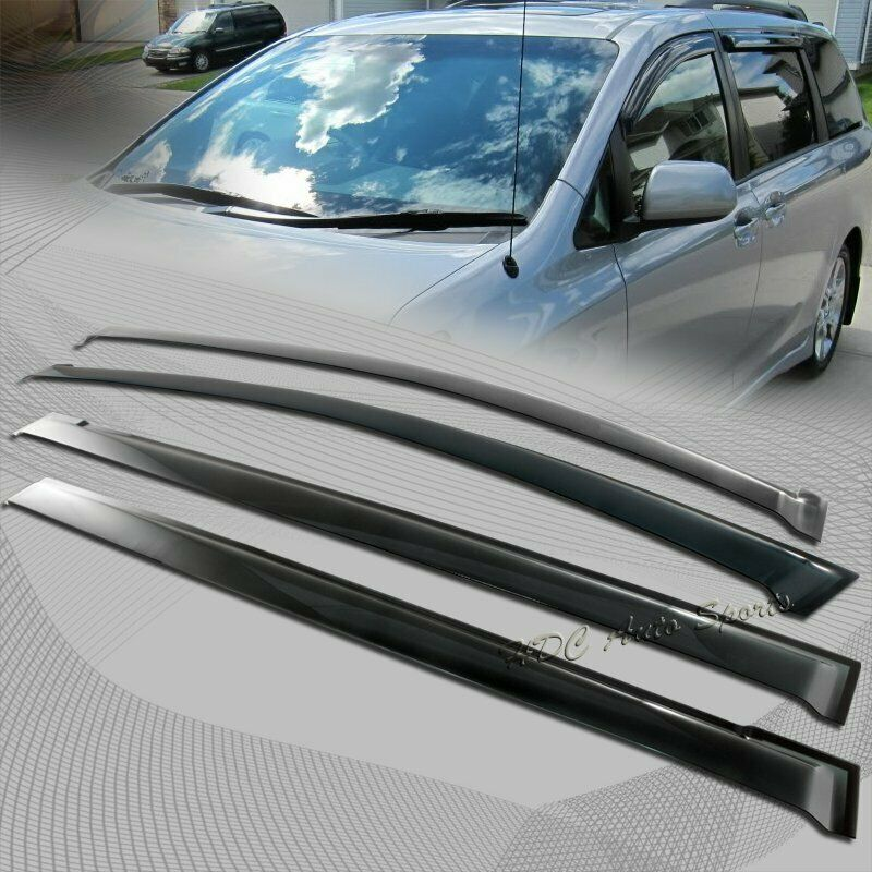 For 2011 2015 Toyota Sienna Smoke Weather Shield Guard