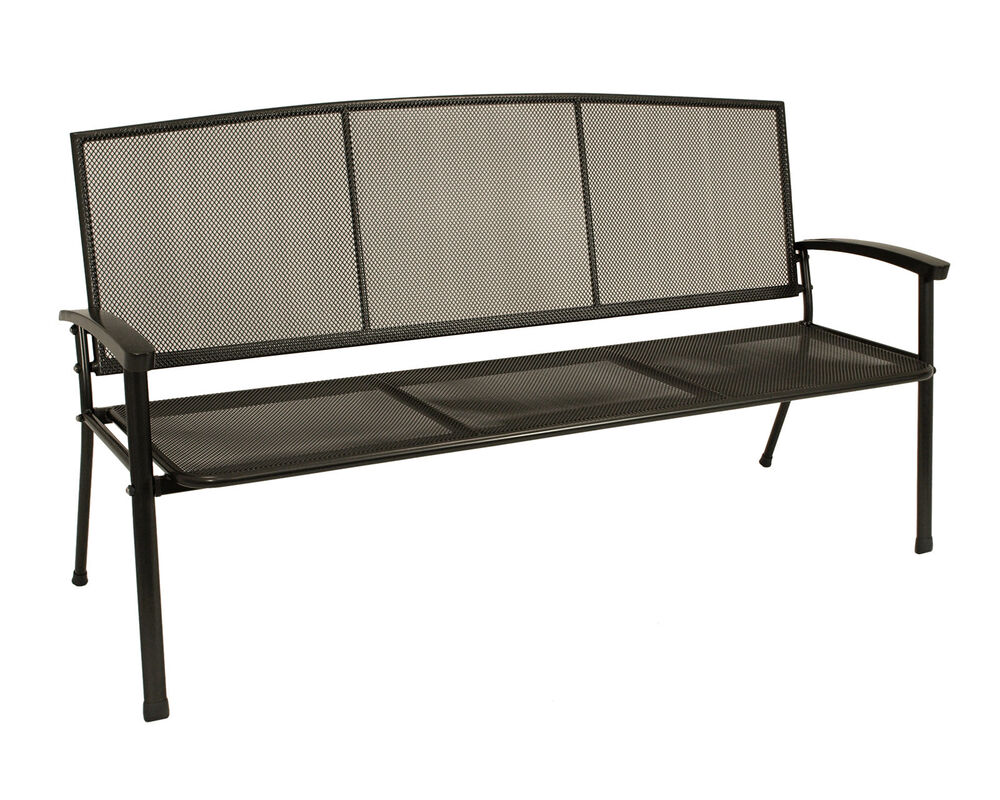 gartenbank metallbank gartenm bel bank metall rivo 3 sitzer eisen metall grau 4050747130627 ebay. Black Bedroom Furniture Sets. Home Design Ideas