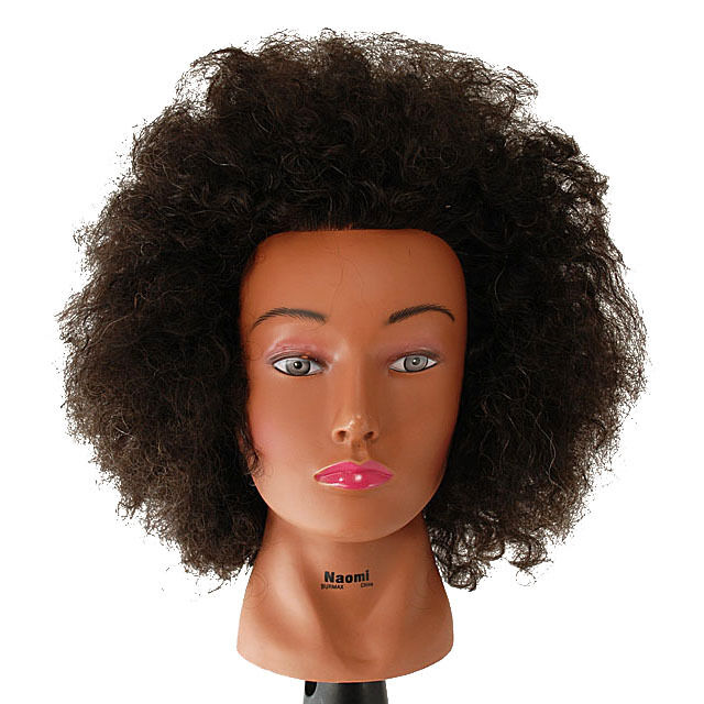 """NEW 18"""" Cosmetology Mannequin Head Afro Human Hair - Naomi ..."""