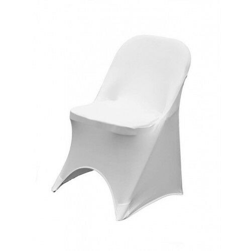 WHITE IVORY BLACK SPANDEX WEDDING FOLDING CHAIR COVERS