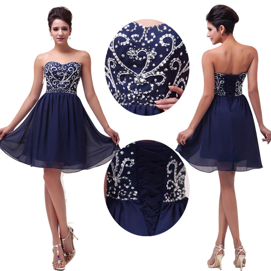 SHORT PROM DRESSES Semi Formal Evening Party Homecoming ...