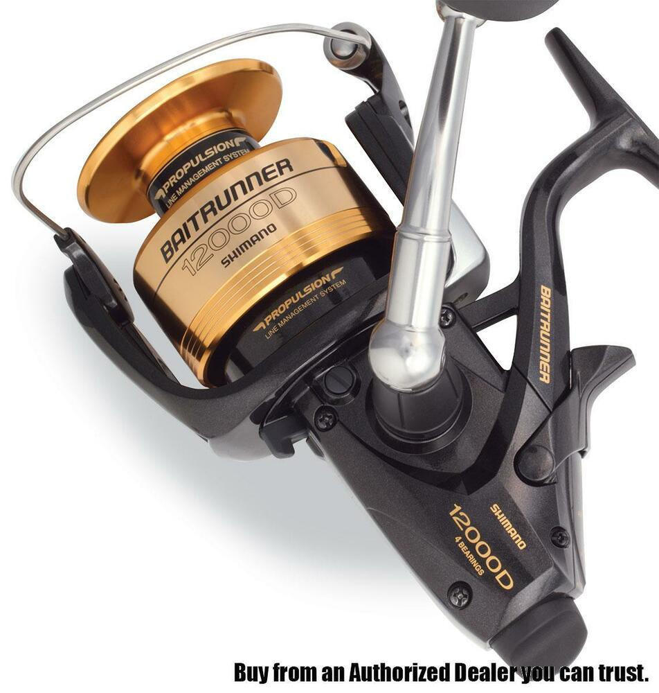 Shimano baitrunner btr12000d spinning fishing reel ebay for Ebay fishing reels