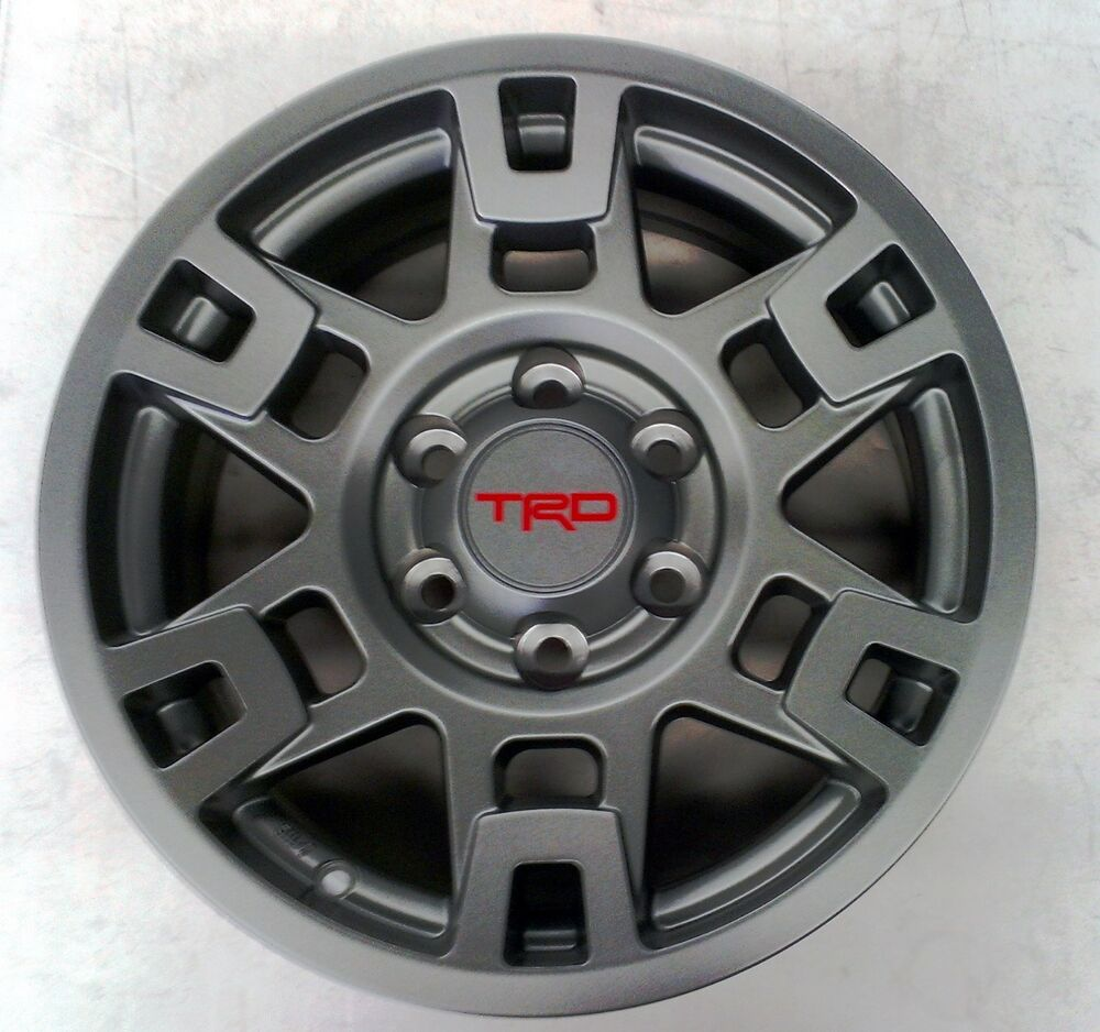 "Toyota 4Runner 1984 - 2015 TRD Pro SEMA 17"" MATTE GRAY Alloy Rims Set ..."