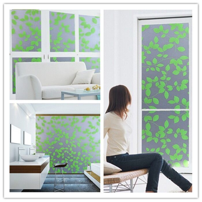 Bathroom Office Privacy Frosted Removable Window Glass Film