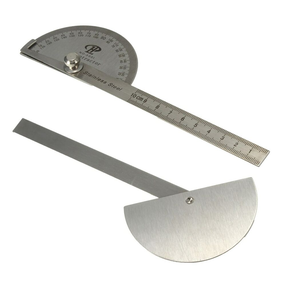 Machinist Measuring Instruments : Cm pro steel protractor angle finder rule measure