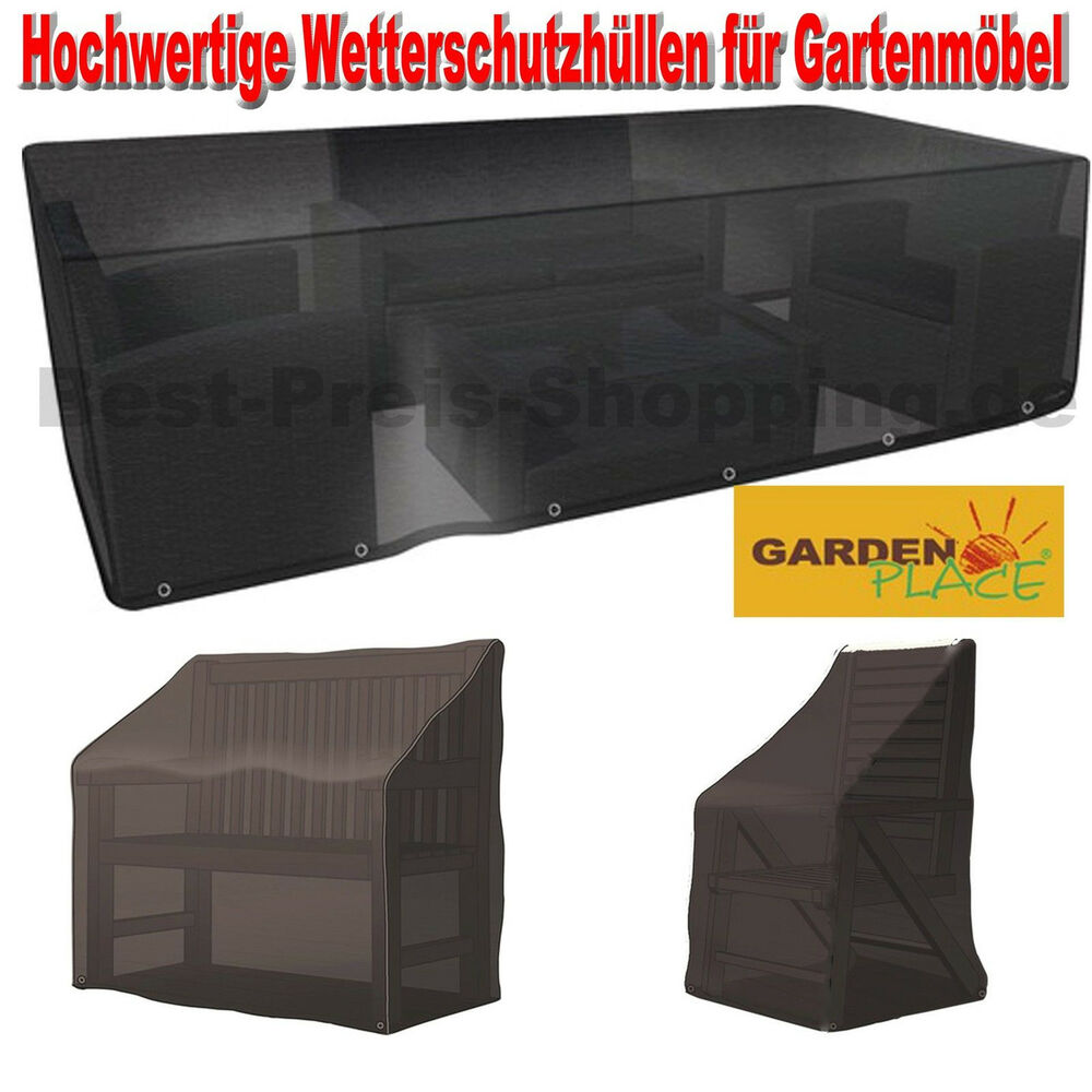 gartenm bel schutzh lle abdeckhaube wasserdicht beschichtet gartenstuhlabdeckung ebay. Black Bedroom Furniture Sets. Home Design Ideas