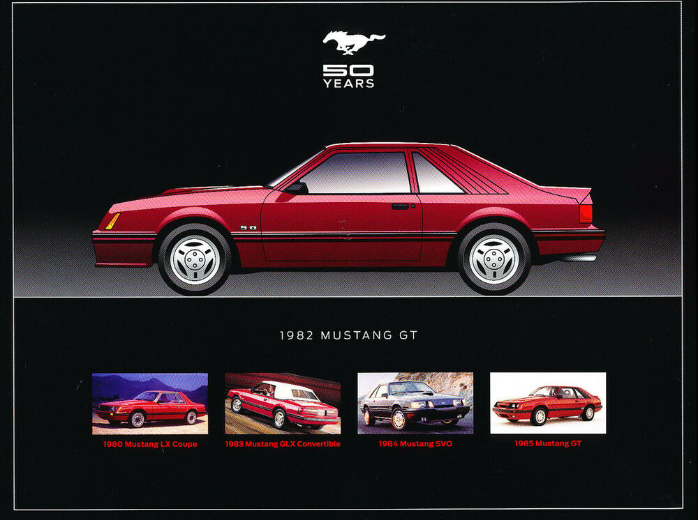 1982 Ford Mustang 5 0 H O Gt Original 1 Page Sales