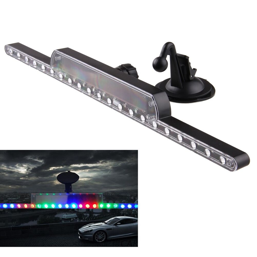 solar flash car strobe knight rider light strip kit ebay. Black Bedroom Furniture Sets. Home Design Ideas