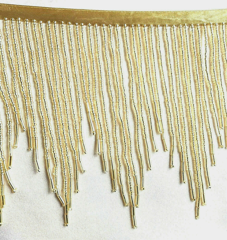 Beaded Fringe Trim adds a touch of glitz and glamour to any ensemble. Fringe and beads have been around since ancient humans roamed the Earth. Fringe and beads have been around since ancient humans roamed the Earth.