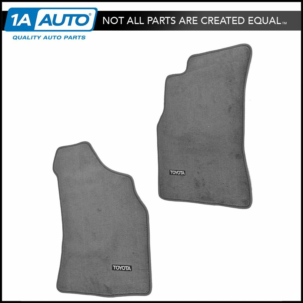 oem carpet floor mat pair lh rh front dark gray for