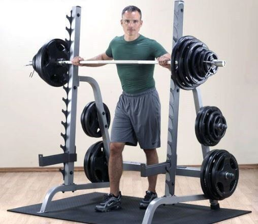 Bench Press Person: Body Solid GPR370 Press Rack With Bench And 400 Lb Rubber