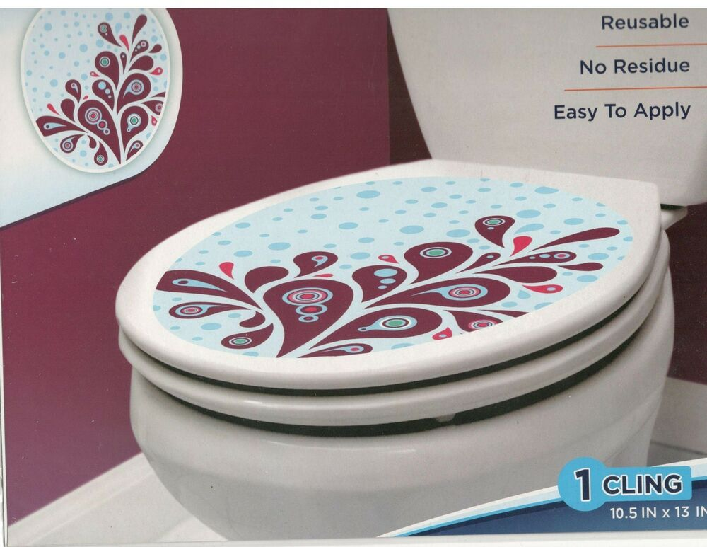 Toilet Bowl Seat Decoration Branch Cling Bathroom Lid