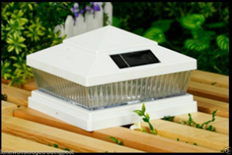 8 Pack 5x5 Or 6x6 Solar White Post Deck Fence Lights