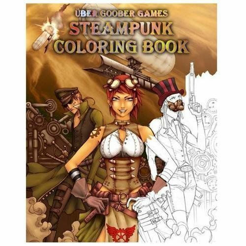 Steampunk Coloring Book By Uber Goober Games : Steampunk coloring book by uber goober games steven metze