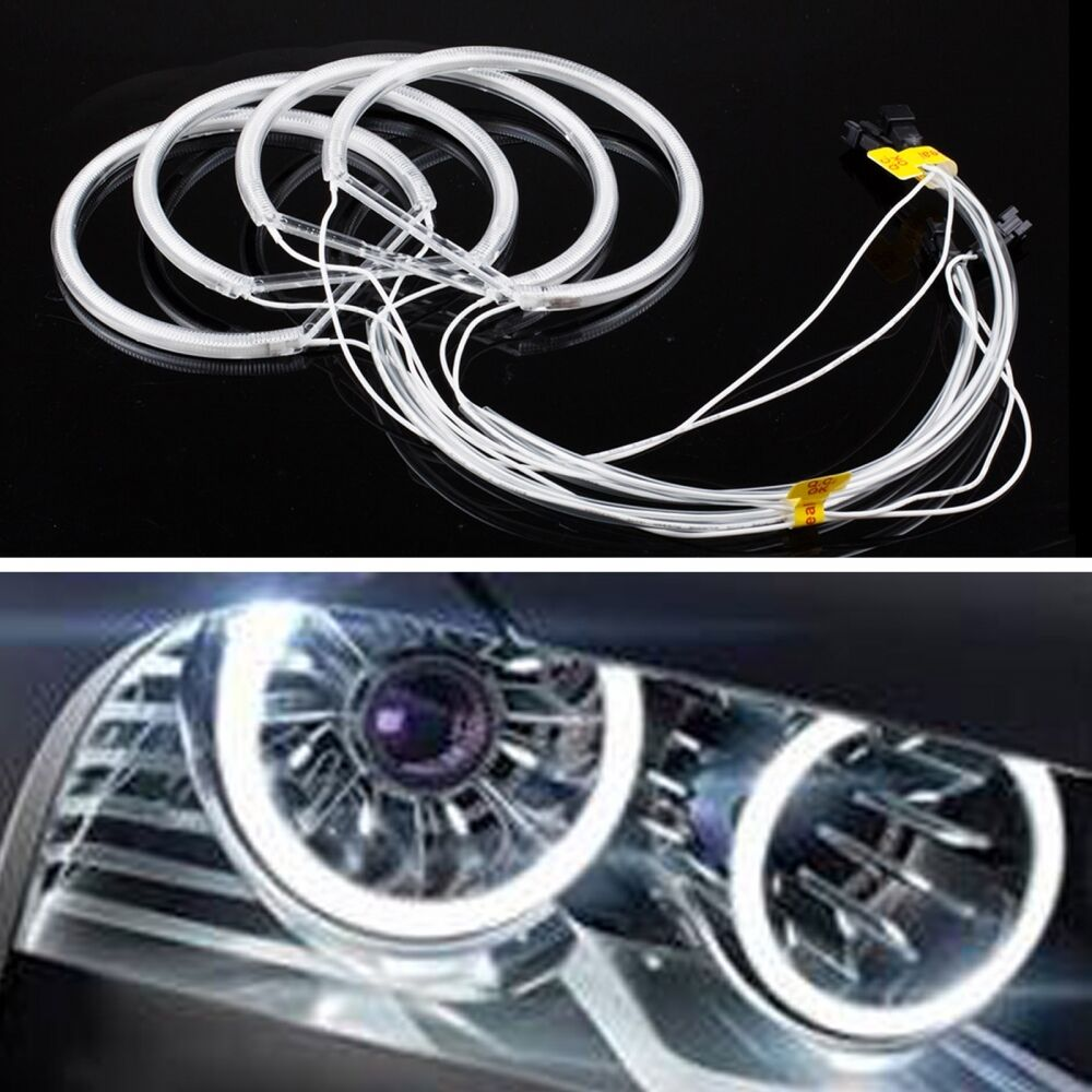 Xenon Headlight 6000k Cob Led Angel Eyes Halo Rings Kit