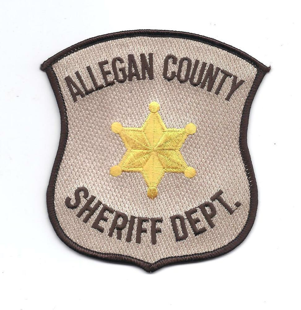 **ALLEGAN COUNTY MICHIGAN SHERIFF DEPARTMENT POLICE PATCH ...