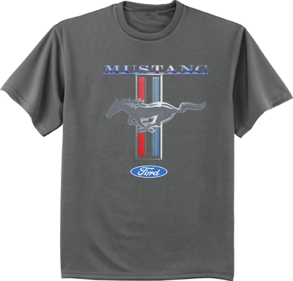 Classic Ford Mustang Tri Bar Pony Design Gray Men 39 S Size