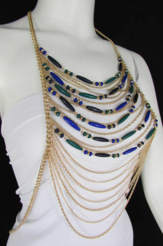 New Women Full Gold Body Chain Fashion Jewelry Cocktail