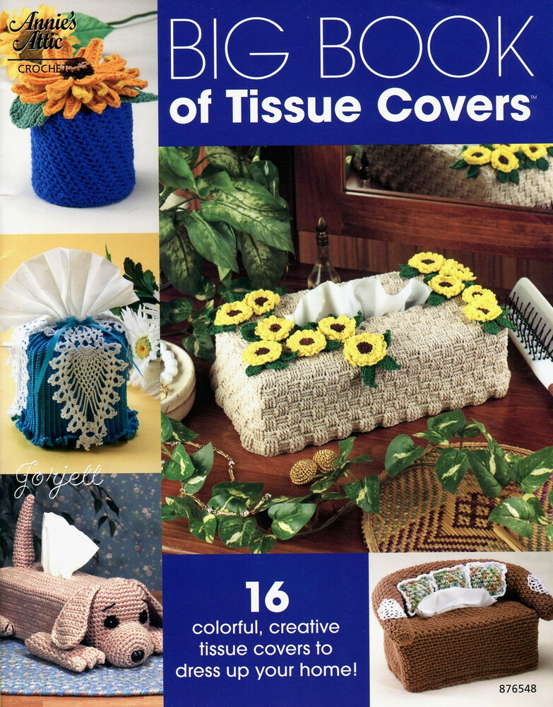 Book Cover Crochet Uk : Big book of tissue covers projects annie s crochet