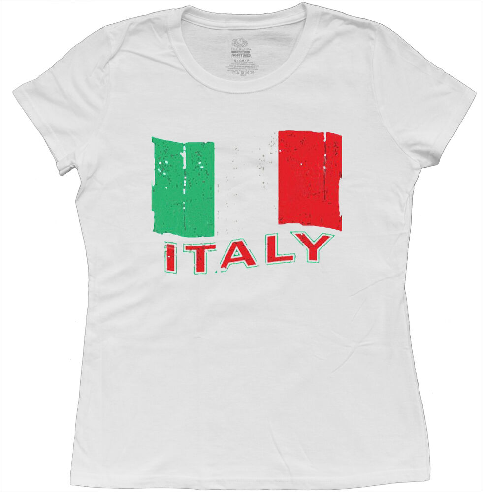italy italian flag pride heritage ladies size tee shirt womens t shirt. Black Bedroom Furniture Sets. Home Design Ideas