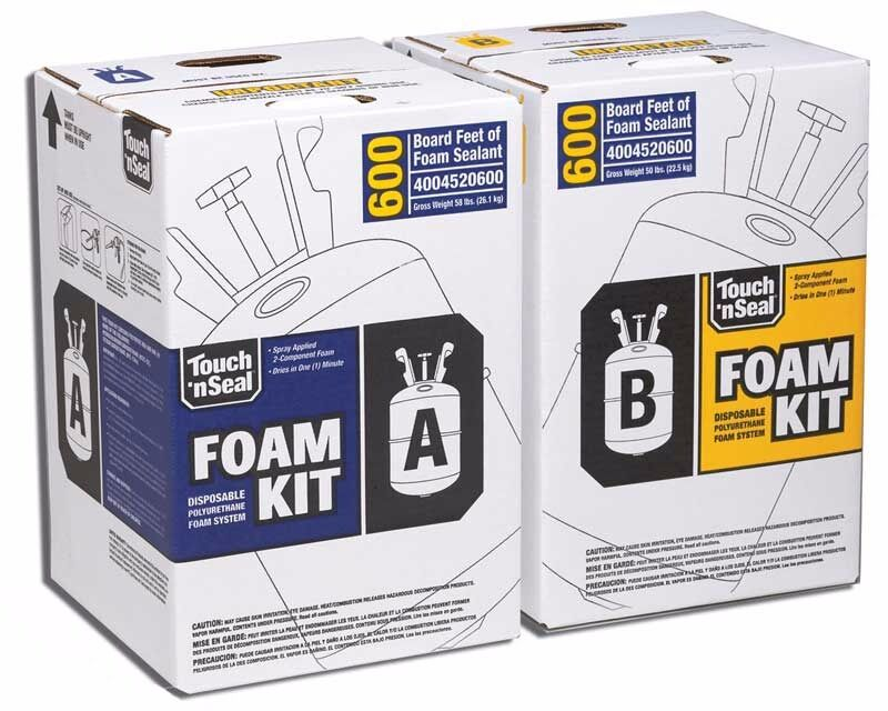 Touch N Seal U2 600 Spray Foam Insulation Kit Closed Cell