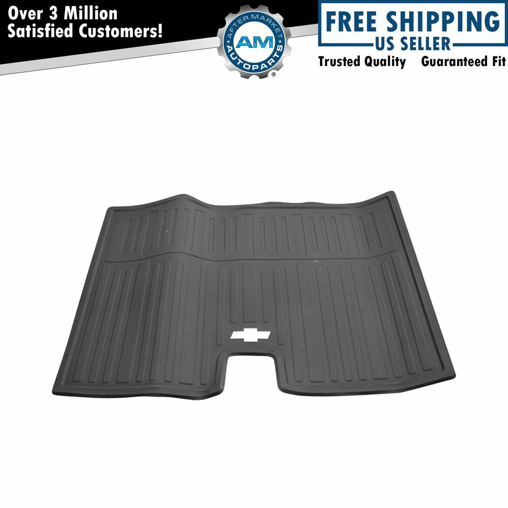 Oem all weather floor mat rear cargo area ebony rubber for for Suburban floors