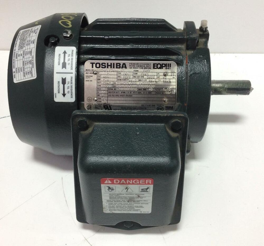 Toshiba Eqp 2hp 3600rpm Tefc 4pole Electric Motor
