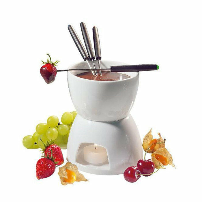 Ceramic Chocolate Fondue Set W Fondue Pot Amp Fondue