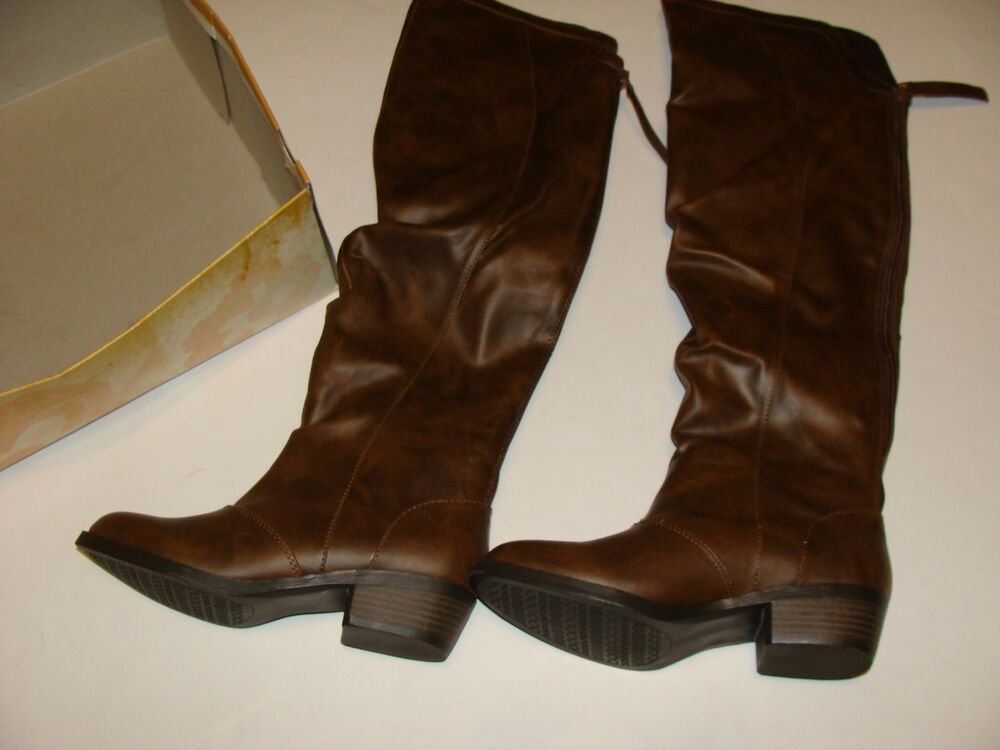 mudd brown boots size 6 5 new shoes s highland knee