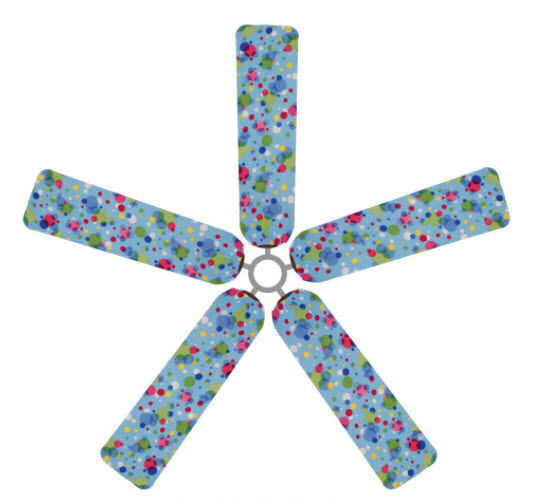 Ceiling Fan Blade FABRIC Cover POLKA DOTS Circles Home